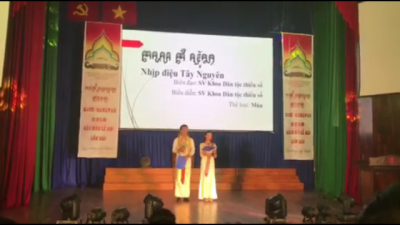 Nhịp điệu Tây Nguyên trong chương trình Sắc màu Lễ hội Kate- Ramâwan năm 2018